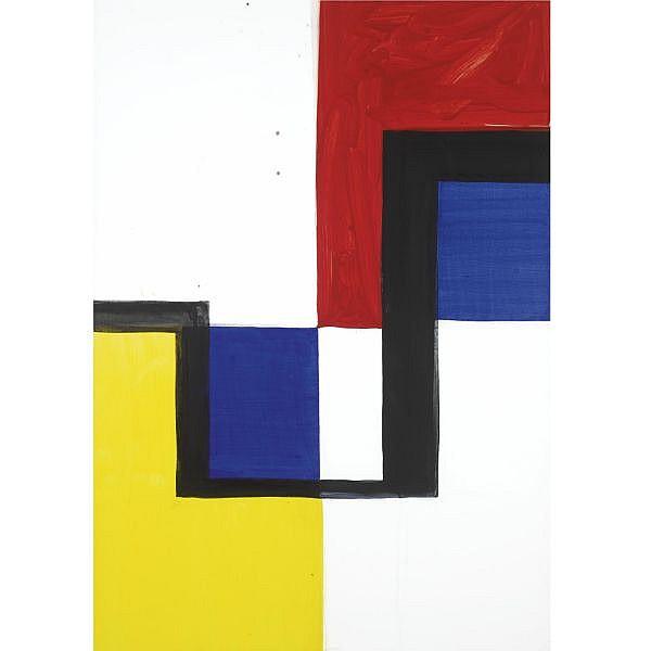 Mary Heilmann , b. 1940   Manhattan Shuffle acrylic on canvas