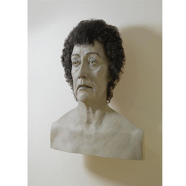 Evan Penny , b. 1953 L. Faux: Black & White epoxy resin, pigment and hair