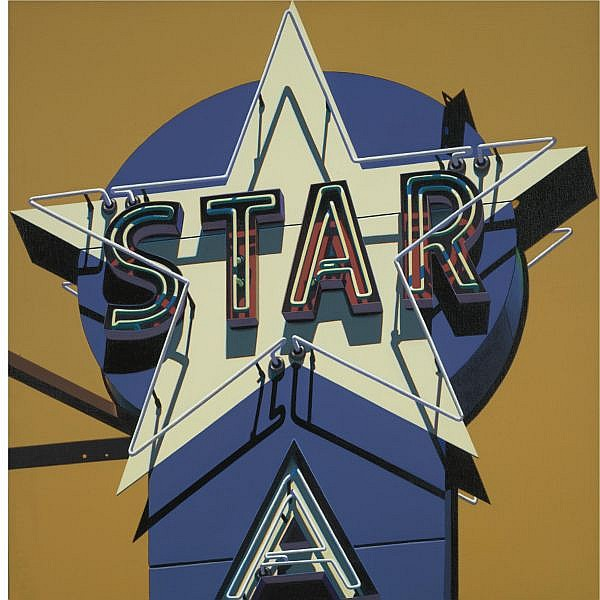 Robert Cottingham , b. 1935 Star oil on canvas