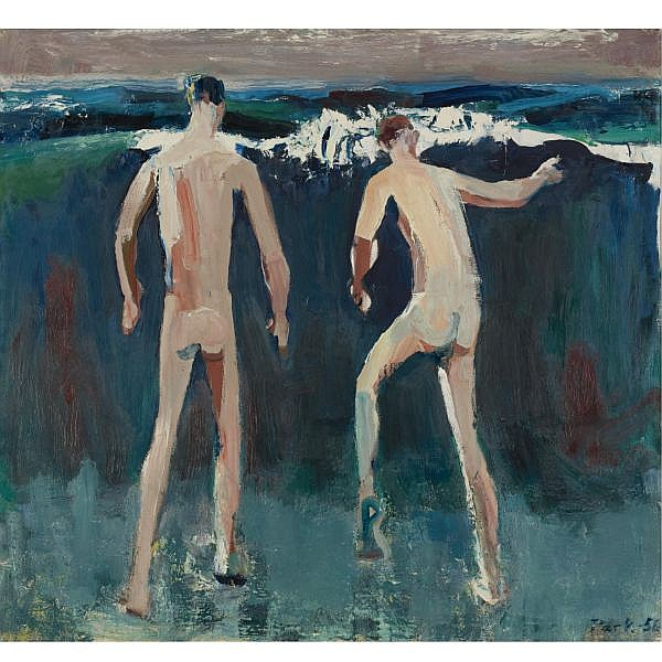 David Park , 1911-1960 Bathers oil on canvas