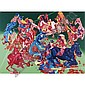 Peter Saul , b. 1934   Custer's Last Stand I   acrylic on canvas     , Peter Saul, Click for value
