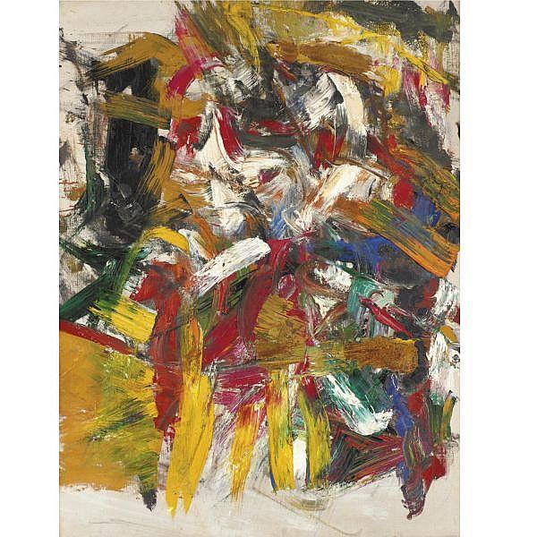 Michael Goldberg , b. 1924 Untitled oil on canvas