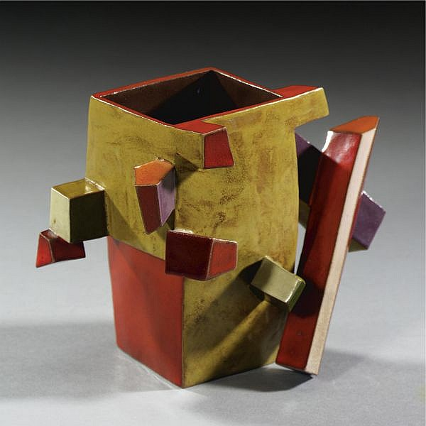 Ken Price , B. 1935 Crystal Cup #3 cast and glazed earthenware