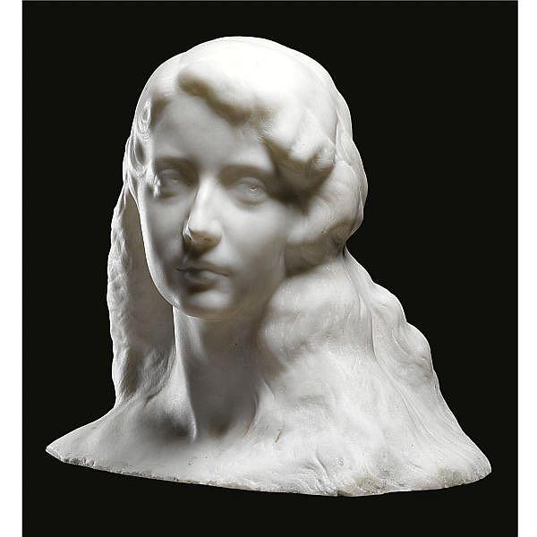 Amleto Cataldi , Italian 1882-1930 A bust of a woman marble