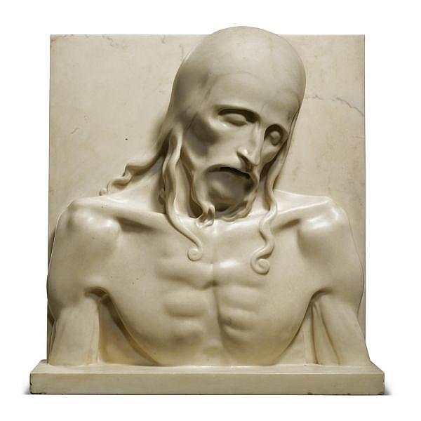 Adolfo Wildt , Italian 1868-1931 Cristo del sepolcro rosa di gandoglia marble