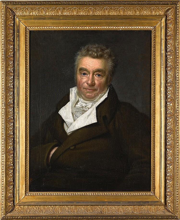 GEORG FRIEDRICH ADOLPH SCHÖNER | Portrait of Christian Abraham Heineken (1752-1818), half-length, wearing a dark coat and white stock