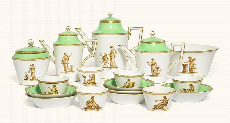 A BERLIN TEA AND COFFEE SERVICE, CIRCA 1800 |