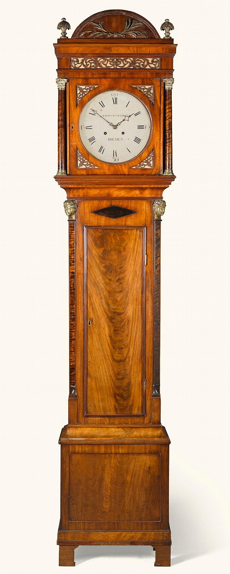 ANORTH GERMAN DUTCH-STRIKINGNEO-CLASSICAL MAHOGANY LONGCASE CLOCK, JOHANN JACOB KIRST, BREMEN, CIRCA 1810 |