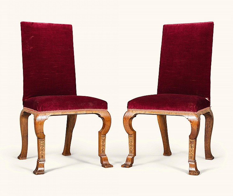 A PAIR OF QUEEN ANNE WALNUT AND MARQUETRY SIDE CHAIRS, CIRCA 1705, ATTRIBUTED TO THOMAS ROBERTS |