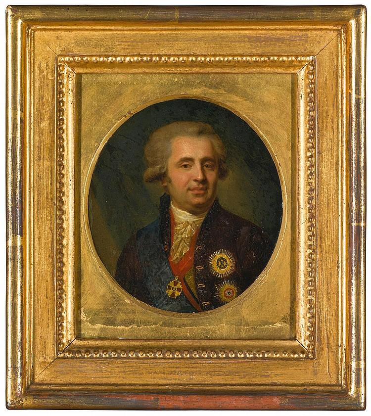 AFTER JOHANN BAPTIST LAMPI THE ELDER | Portrait of Prince Alexander Andreyevich Bezborodko (1747-1799)