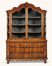 A DUTCH WALNUT AND MARQUETRY DISPLAY CABINET, 18TH CENTURY |