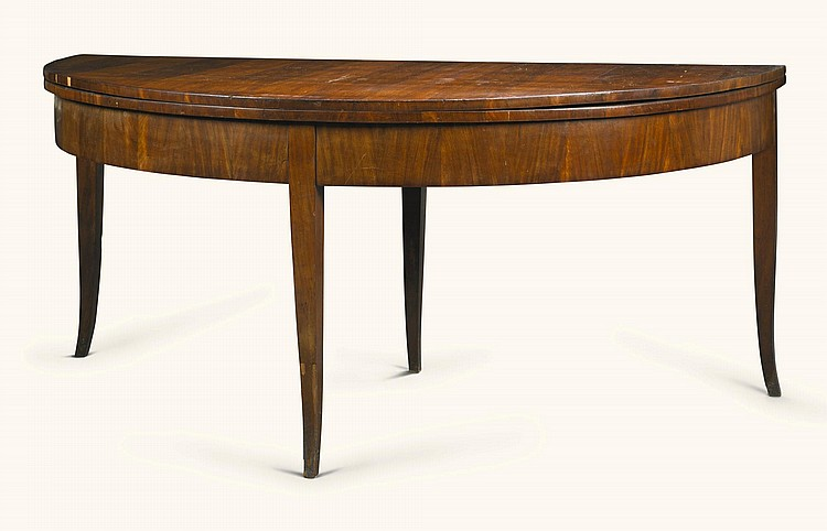 A GERMAN NEOCLASSICAL MAHOGANY DINING TABLE SAXONY, PROBABLY LEIPZIG, EARLY 19TH CENTURY |