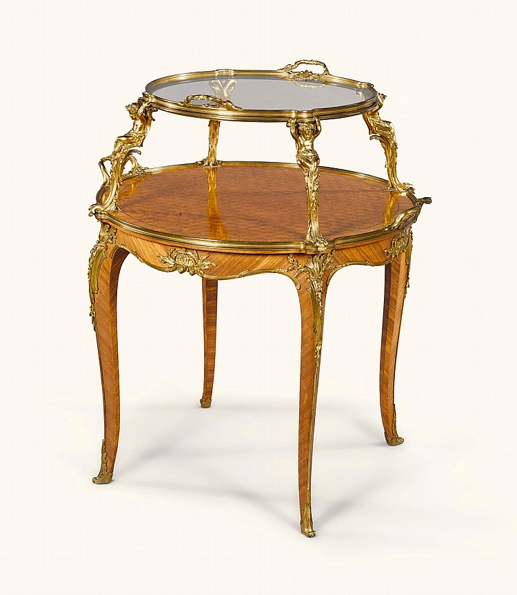 A GILT-BRONZE MOUNTED ROSEWOOD OCCASIONAL TABLE BY FRANÇOIS LINKE, INDEX NR.610 LATE 19TH/EARLY 20TH CENTURY |
