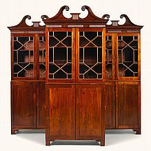 A SET OF THREE VICTORIAN MAHOGANY CAMPAIGN BOOKCASES, MID-19TH CENTURY |