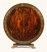 A GEORGE IV BRASS-INLAID ROSEWOOD CENTRE TABLE, CIRCA 1825, IN THE MANNER OF JOHN WELLSMAN |