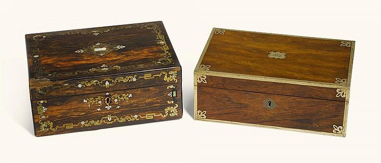 A VICTORIAN MACASSAR EBONY WORK BOX, CIRCA 1860 |