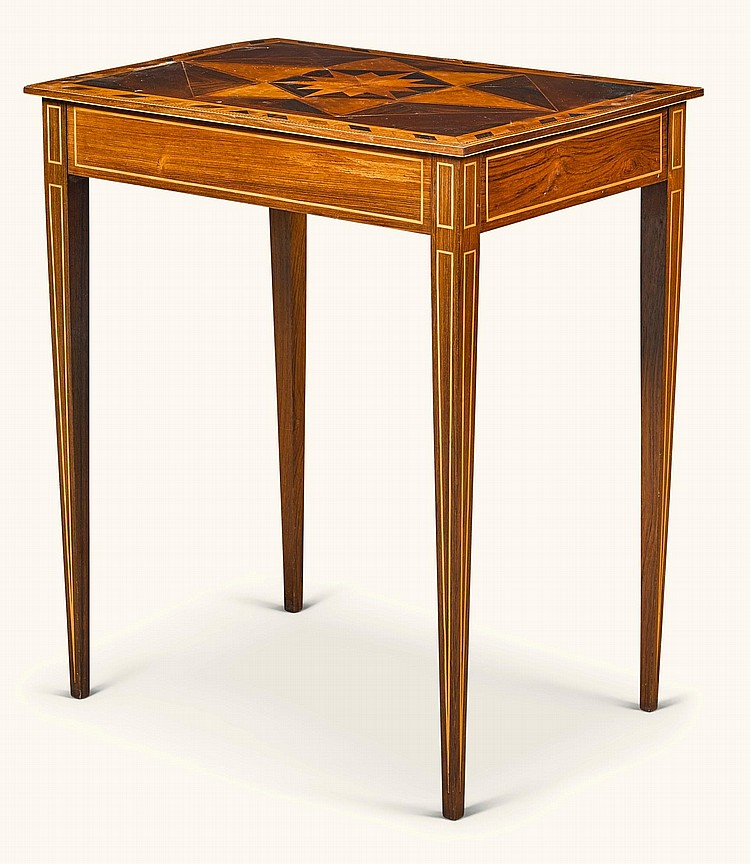A GEORGE IIISPECIMEN PARQUETRY AND ROSEWOODTABLE, CIRCA 1780, POSSIBLY SCOTTISH |