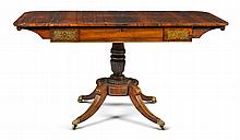 A GEORGE IV GILT-BRASS MOUNTED AND INLAID ROSEWOOD SOFA TABLE, CIRCA 1825 |
