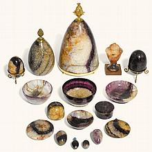 AN INTERESTING COLLECTION OF BLUE JOHN SPECIMEN OBJECTS, 18TH CENTURY AND LATER |