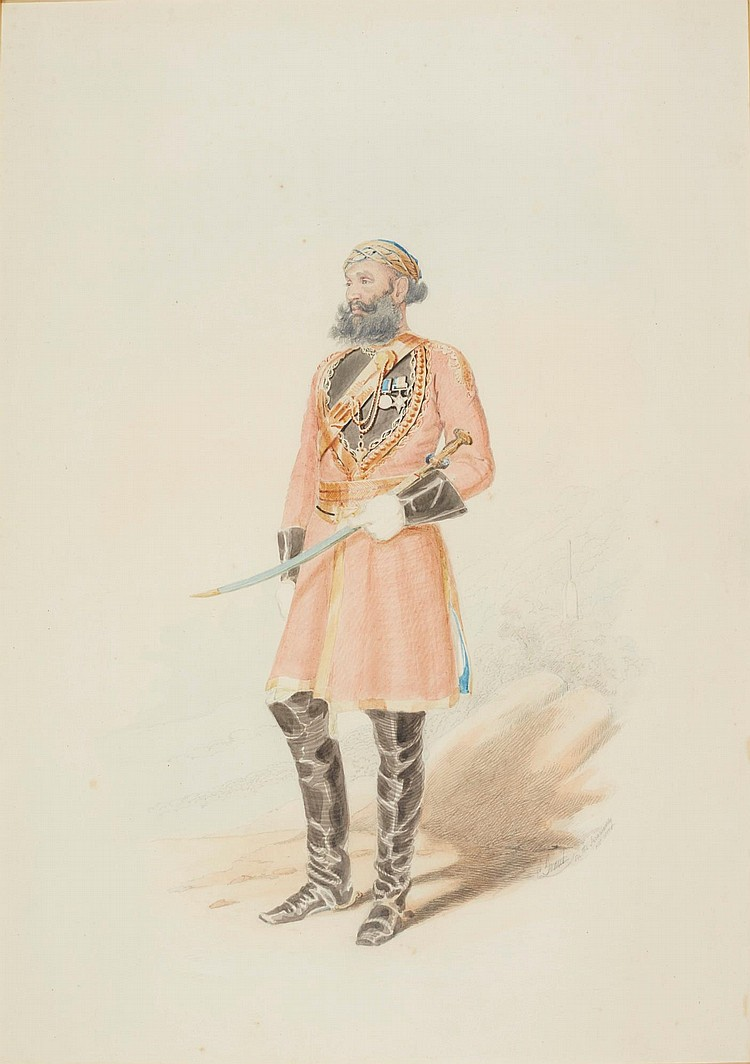 COLESWORTHY GRANT | Portrait of an officer of the 8<sup>th</sup> Bengal Irregular Cavalry