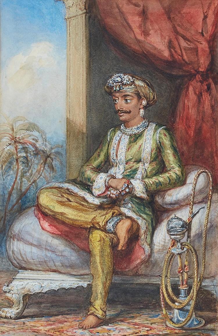 ANGLO-INDIAN SCHOOL | Portrait of theGaekwad of Baroda, possibly Maharaja Ganpatrao (1816-1856)