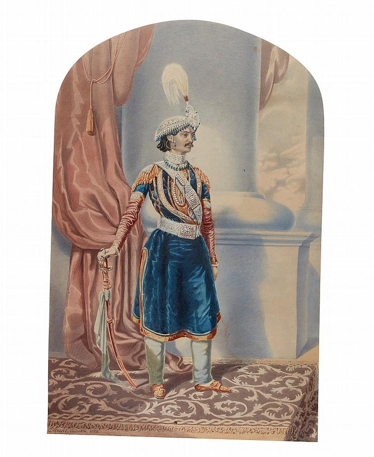 COLESWORTHY GRANT | Portrait ofHis Excellency General Sir Jang Bahadur Kunwar Rana (1817-77)