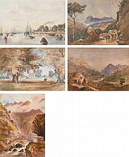 SIR CHARLES D'OYLY, 9TH BT. | A Collection of five views of India