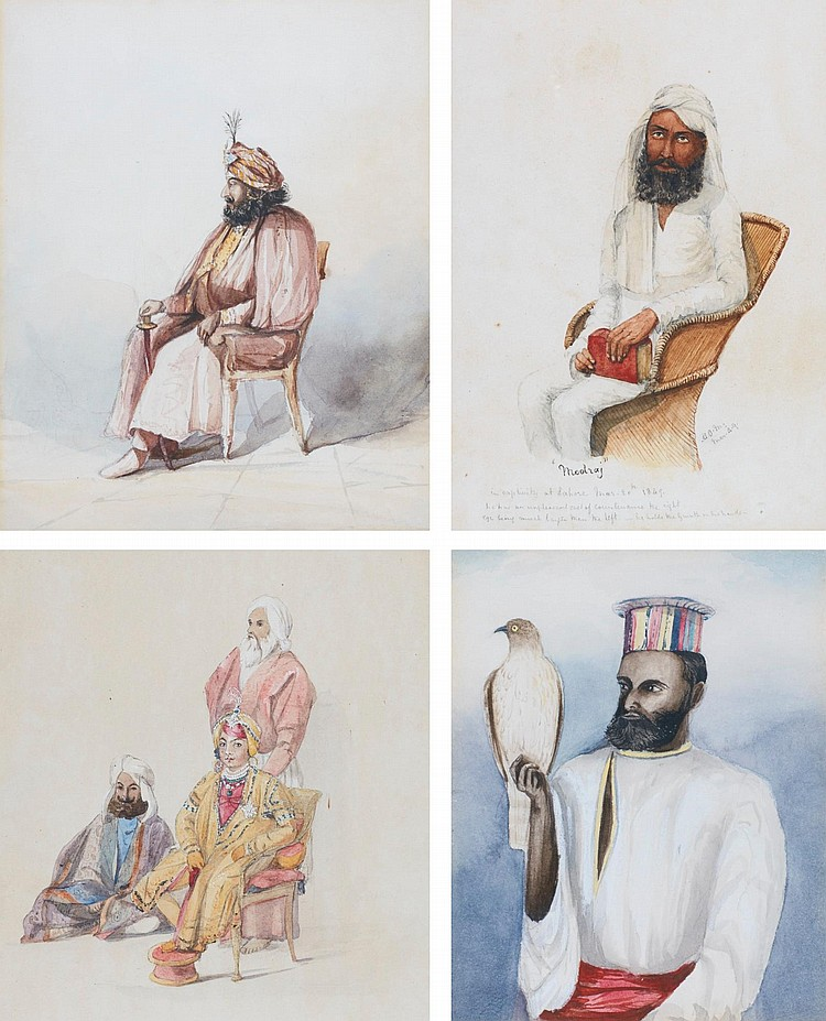 A COLLECTION OF FOUR PORTRAITS OF MAHARAJAH |
