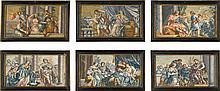 AFTER PIETRO DA CORTONA   Six mythological scenes, including <em>Antiochus and Stratonice</em>,<em>The Continence of Scipio </em>and<em> Ottaviano and Cleopatra</em>