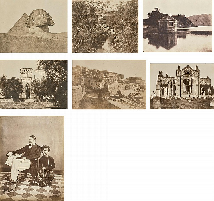 ALBUM OF PHOTOGRAPHS OF VIEWS & PORTRAITS TAKEN IN INDIA AND SCOTLAND