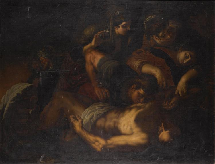 GENOESE SCHOOL, 17TH CENTURY | Lamentation over the dead Christ