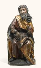 SOUTHERN GERMAN, PROBABLY SWABIA, CIRCA 1500 | Seated Saint
