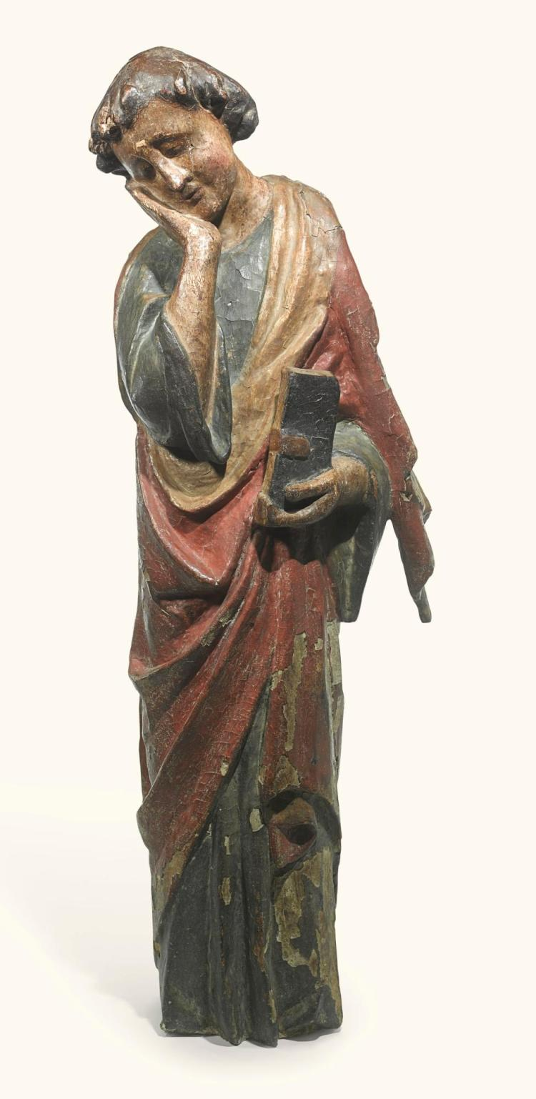 FRENCH, 13TH CENTURY | Saint John the Evangelist from a Calvary Group