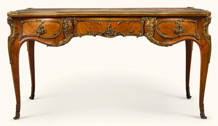 A LOUIS XV STYLE ROSEWOOD BUREAU-PLAT BY JULIUS ZWIENER, BERLIN LATE 19TH CENTURY |