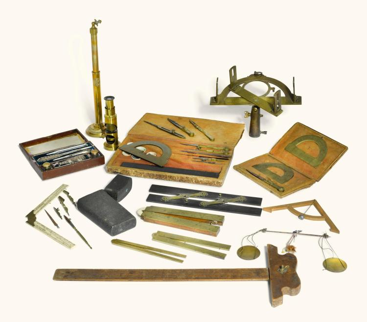 A COLLECTION OF VARIOUS SCIENTIFIC INSTRUMENTS, ONCE THE PROPERTY OF CHRISTIAN ABRAHAM HEINEKEN, GERMANY LATE 18TH/EARLY 19TH CENTURY |