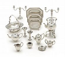 A GROUP OF AMERICAN SILVER COLONIAL REVIVAL MINIATURES, WILLIAM B. MEYERS CO., NEWARK, CIRCA 1930 |