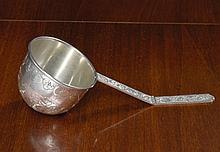 AN AMERICAN SILVER ART NOUVEAU LADLE WITH FOLDING HANDLE, CURRIER & ROBY, NEW YORK, CIRCA 1905 |