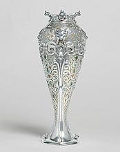 PAN-AMERICAN EXPOSITION, BUFFALO: AN AMERICAN SILVER, ENAMEL AND GEM-SET VIKING STYLE VASE, DESIGNED BY PAULDING FARNHAM FOR TIFFANY & CO., NEW YORK, 1901 |
