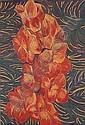Pacita Abad 1946-2004 , Orange Gladiola oil on canvas, Pacita Abad, Click for value