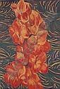 Pacita Abad 1946-2004 , Orange Gladiola oil on canvas, Pacita Abad, Click for value
