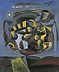 Federico Aguilar Alcuaz B. 1932 , Composition With Fruits And Lemons oil on canvas, Federico Aguilar Alcuaz, Click for value