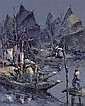 Lucien Frits Ohl 1904-1976 , Fishing Boats oil on canvas, Lucien Frits Ohl, Click for value
