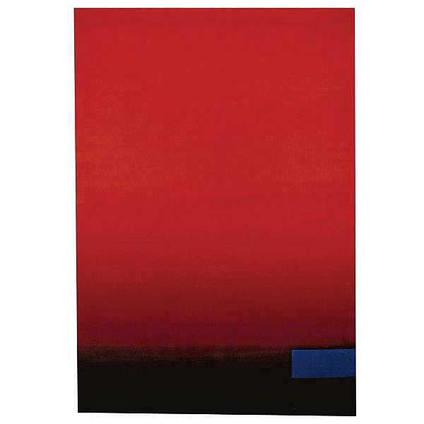- Rupprecht Geiger , b. 1908 OE 275 oil on canvas