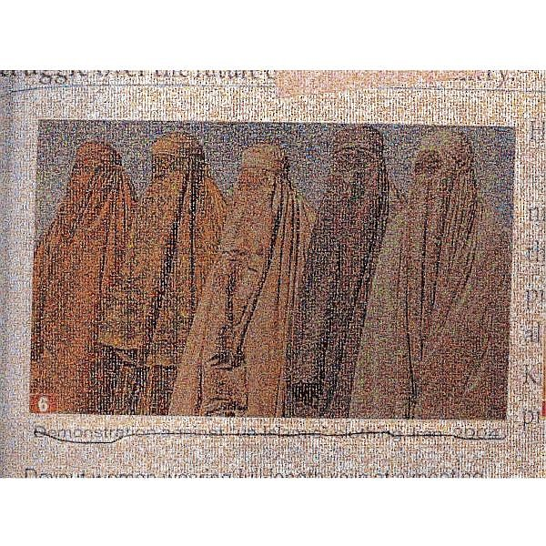 - Rashid Rana , b. 1968 Veil #6 cibachrome print with Diasec face mounted on plexiglass