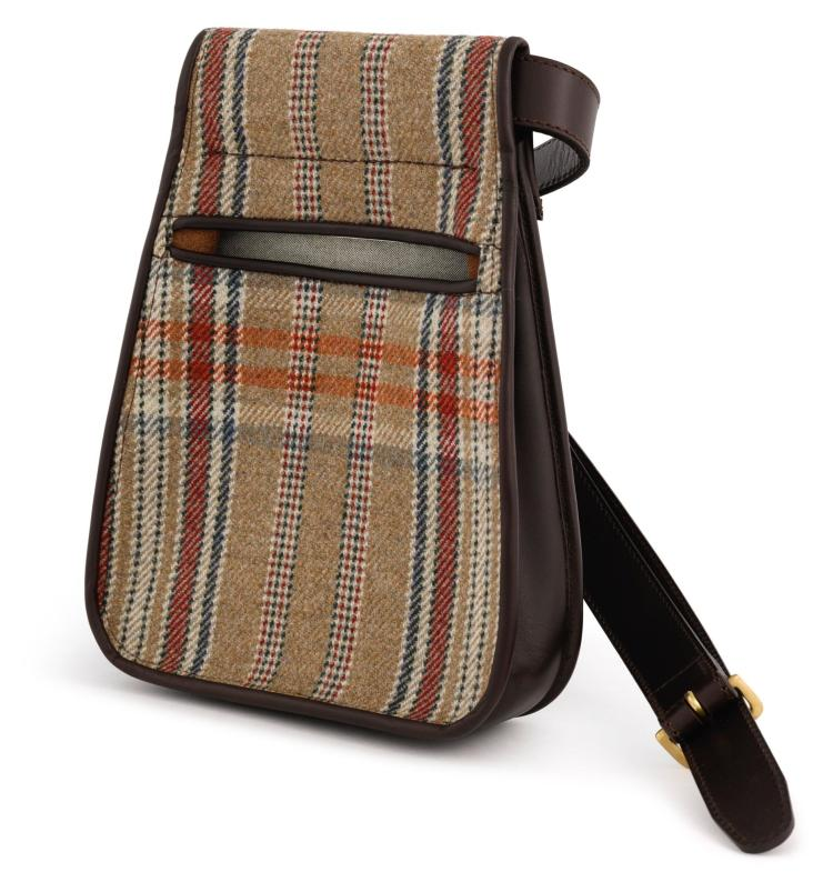 HUNTSMAN TWEED CARTRIDGE POUCH WITH BELT | Simpson Leather London