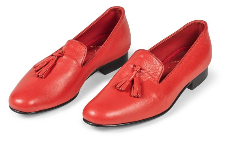 HUNTSMAN ROYAL RED SLIPPERS | Foster and Son