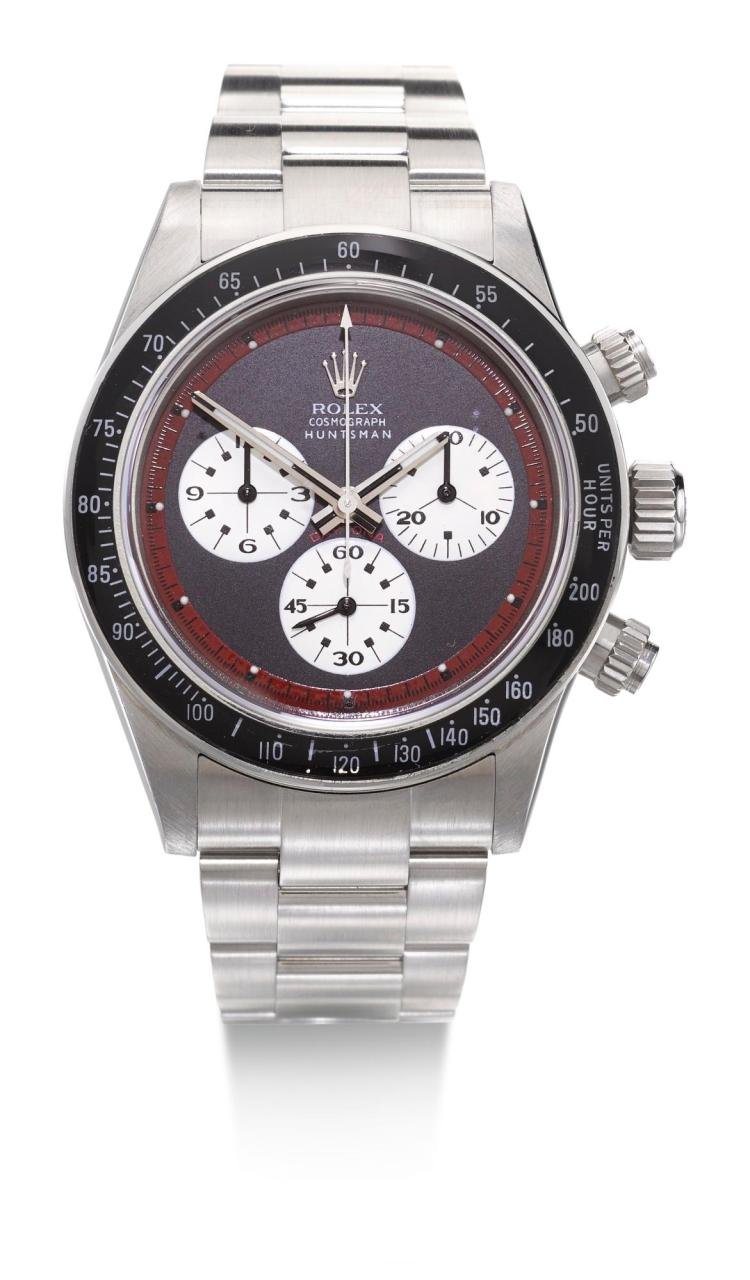 HUNTSMAN & PRO HUNTER | A STAINLESS STEEL AUTOMATIC CHRONOGRAPH WRISTWATCH WITH REGISTERS AND BRACELET REF 116520 CASE D3104570 NO 011 CIRCA 2010