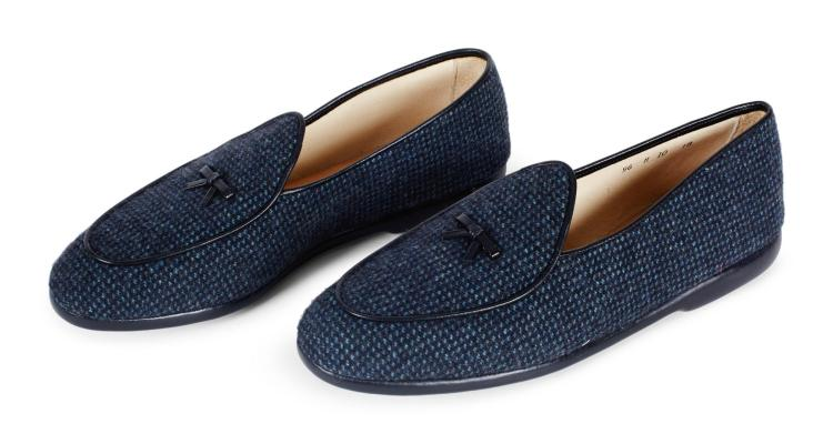 CASHMERE TICKING SHOES | Belgian Shoes & Joshua Ellis