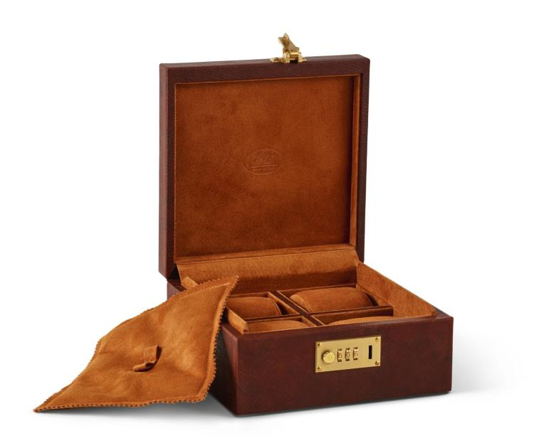 1786 RUSSIAN HIDE WATCH BOX | George Cleverley