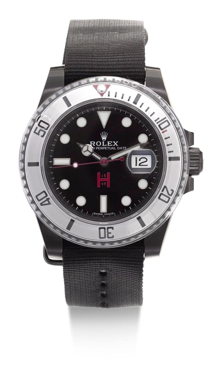 HUNTSMAN & PRO HUNTER | A PVD-COATED STAINELSS STEEL AUTOMATIC CENTRE SECONDS DIVERS' WATCH WITH DATE REF 116610 CASE E573S058 CIRCA 1990